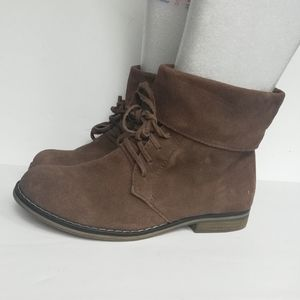 MIA Tawannah Leather Suede Lace up Ankle Boots